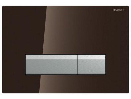 Geberit Sigma 40 tlačidlo s odsávaním zápachu s filtráciou, sklo umbra a hliník 115.600.SQ.1