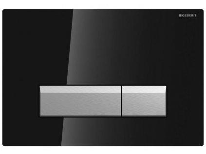 Geberit Sigma 40 tlačidlo s odsávaním zápachu s filtráciou,čierne sklo a hliník ,kod:115.600.SJ.1