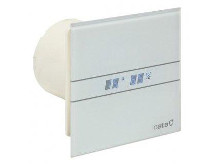 Cata E Glass 100 ventilátor s časovačom a vlhkomerom+Led teplomer ,biely  ,kód: M9942305