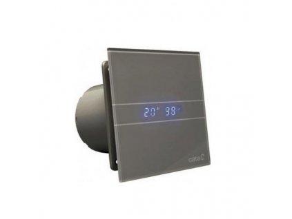 Cata E Glass 100 ventilátor s časovačom a LED podsvietením ,silver ,kód: M9946757