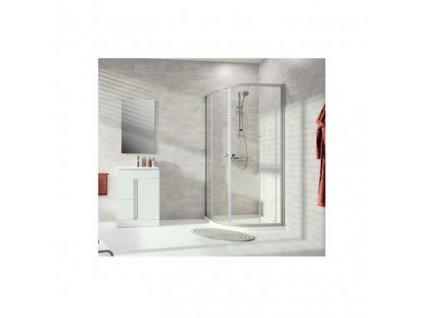 Novinka Huppe Alpha 2 oblý sprchový kút 90x90cm A20602069322+povrchová úprava skla Antu-Plaque