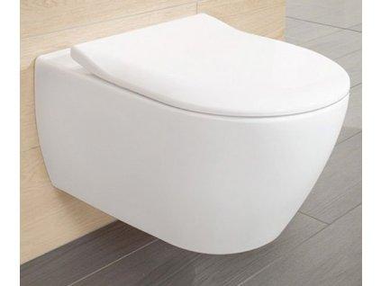 Villeroy & Boch Subway 2.0 - set závesné WC Direct Flush + CeramicPlus + spomaľovacie WC sedadlo