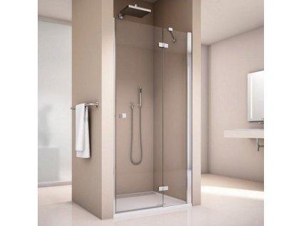 Ronal Sanswiss Annea sprchové dvere 90cm s pevnou stenou AN13