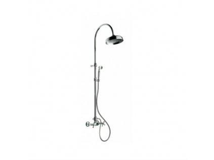 Faris Liberty sprchová batéria nástenná, rozteč 150mm, pevná sprcha+ručná sprcha - komplet, chróm, 027+AC270