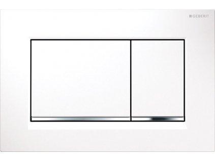 Novinka Geberit Sigma 30 tlačidlo biela/lesklý chróm/biela 115.883.KJ.1