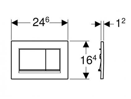 Novinka Geberit Sigma 30 tlačítko biela/lesklýchrom/biela 115.883.KJ.1