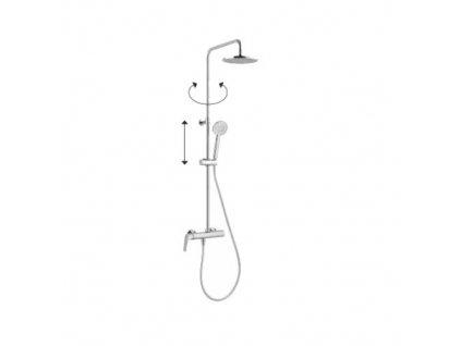Alpi Sport Plus sprchový systém - chróm - 87RP7251
