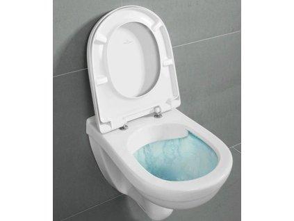 Villeroy & Boch O.Novo - závesné WC Direct Flush + CeramicPlus + spomaľovacie WC sedadlo 5660HRR1