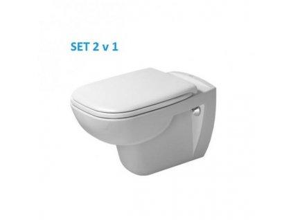 Duravit D-Code závesné WC  spomaľovacie WC sedadlo kupelnashop.sk