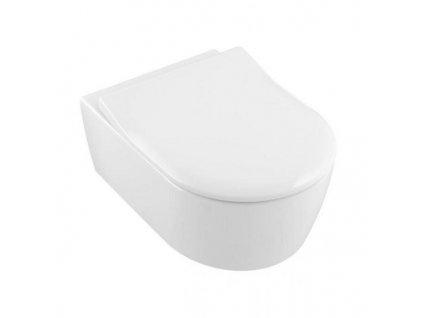 Villeroy & Boch Avento - závesné WC + Direct Flush + CeramicPlus + spomaľovcie WC sedadlo 5656RSR1