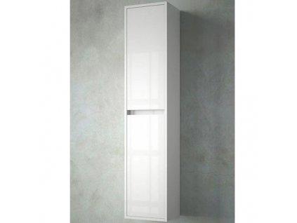 Salgar Noja vysoká závesná skrinka 140x30x24cm,biela lesklá ,kód:17169