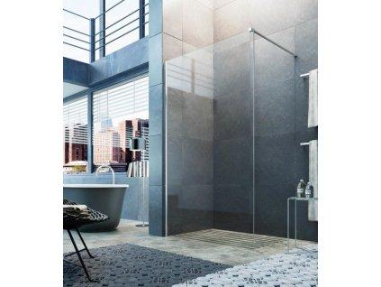 Glass Fluida Walk-In pevna voľne stojacá stena 120cm, kod:GFK0004T500