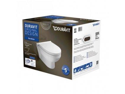 Duravit DuraStyle pack 45620900A1 závesné s Rimless spomaľovacie WC sedadlo kupelnashop.sk