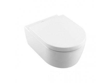 Villeroy & Boch Avento - závesné WC + DirectFlush + CeramicPlus + spomaľovacie WC sedadlo 5656HRR1