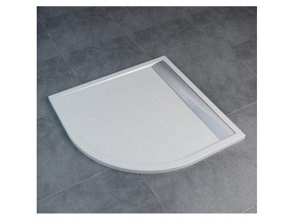 Sanswiss ILA oblá vanička z liatého mramoru 100x100cm WIR551005004