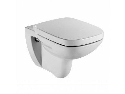 Roca Debba - závesné WC + sedadlo s oceľovými úchytmi
