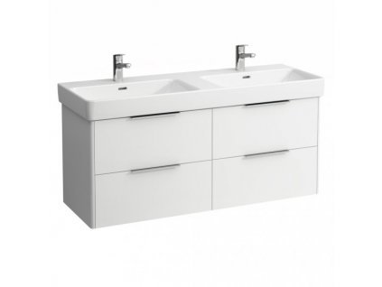 Laufen Base - skrinka lesklá biela pod dvojumývadlo Laufen Pro S 130 x 46 cm