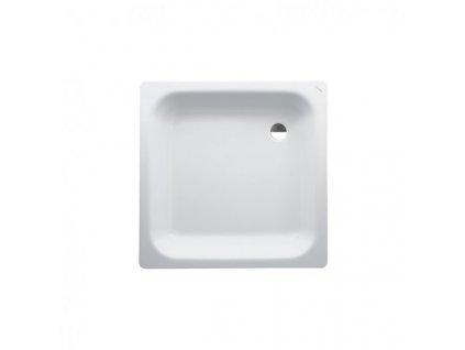 Laufen Platina oceľová sprchová vanička biela 80x80x16 cm,