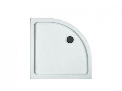 Laufen Merano keramická sprchová vanička biela 80x80x6,5 cm štvrťkruhová