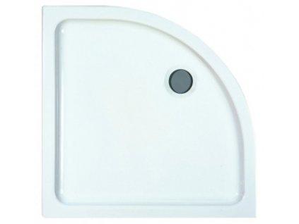 Laufen Merano - keramická sprchová vanička biela 90 x 90 x 6,5 cm štrvťkruhová