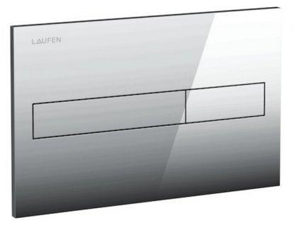 Laufen - splachovacie tlačidlo AW1 Dual Flush, lesklý chróm 8956610040001