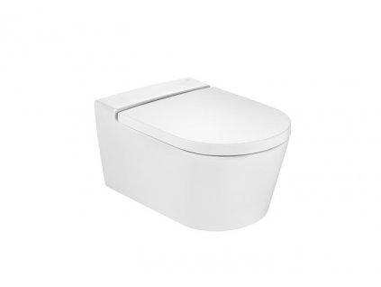 Roca Inspira - set - Round Rimless závesné WC + spomaľovacie sedadlo