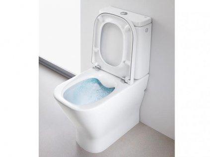 Akciový set Roca The Gap Rimless stojatá wc misa + nádržka + spomaľovacie sedátko