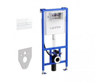 Laufen - podomietková nádržka CW2 s úchytmi + tlačidlo biele AW1 + zvuková izolácia