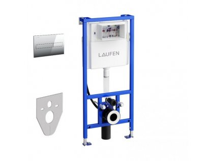 Akciový set Laufen podomietková nádržka CW2 s úchytmi + tlačidlo lesklý chróm AW1 + zvuková izolácia