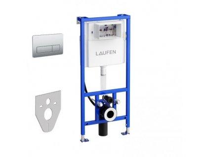Akciový set Laufen podomietková nádržka CW2 s úchytmi + tlačidlo nerez oceľ INOX AW2 + zvuková izolácia