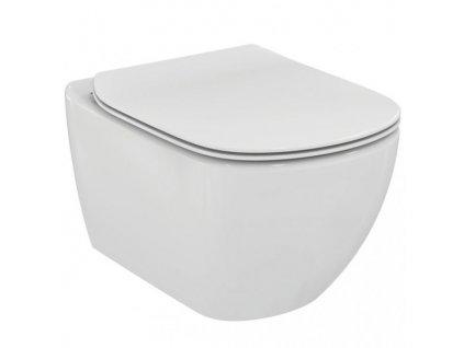 Akciový set Ideal Standard Tesi závesné wc 36x53 cm Aquablade + spomaľovacie sedátko ultra ploché