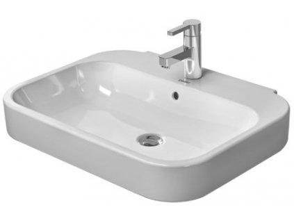 Výpredaj Duravit Happy d.2 umývadlo 47,5x60 cm s prepadom a otvorom pre batériu 23166