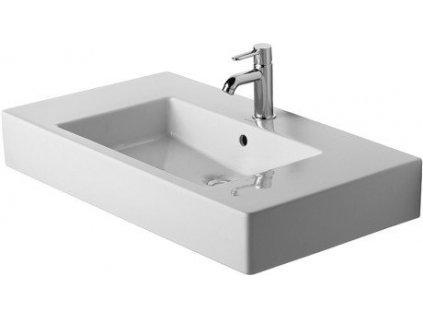 Výpredaj Duravit Vero hranaté umývadlo 85x49 cm s prepadom a otvorom pre batériu 0329850000