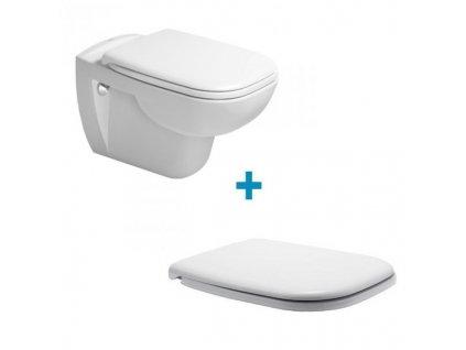 Duravit D-Code závesná WC misa 54,5x35,5 cm Rimless 45700900A1 kupelnashop.sk
