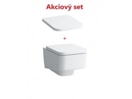 Akciový set Laufen Pro S závesná wc misa 36x53 cm s Rimless + spomaľovacie sedátko s poklopom