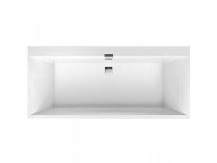 Villeroy & Boch Square Edge 12 Duo Quaryl vaňa 170x75 cm biela UBQ160SQE2DV01