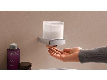 Emco Loft dávkovač mydla so skleneným krytom, držiak chróm 052100103