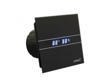 Cata ventilátor čierne sklo timer+vlhkomer kupelnashop.sk