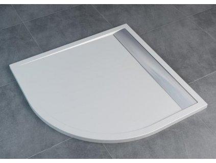 Sanswiss ILA oblá vanička z liatého mramoru 90x90cm radius 550 WIR550905004 kupelnashop.sk