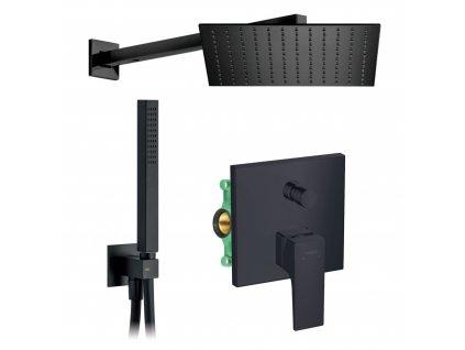 HANSGROHE Set 8 podomietkový sprchový systém čierny komplet kupelnashop.sk