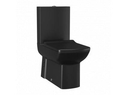 Creavit Lara stojace WC + BIDET 2v1 matná čierna LR3641 Kupelnashop.sk