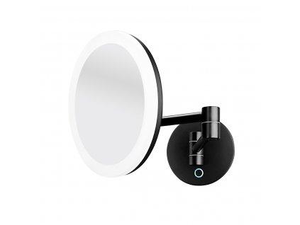Nimco kozmetické zrkadlo 20cm s LED podsvietením čierne ZK2026590 Kupelnashop.sk