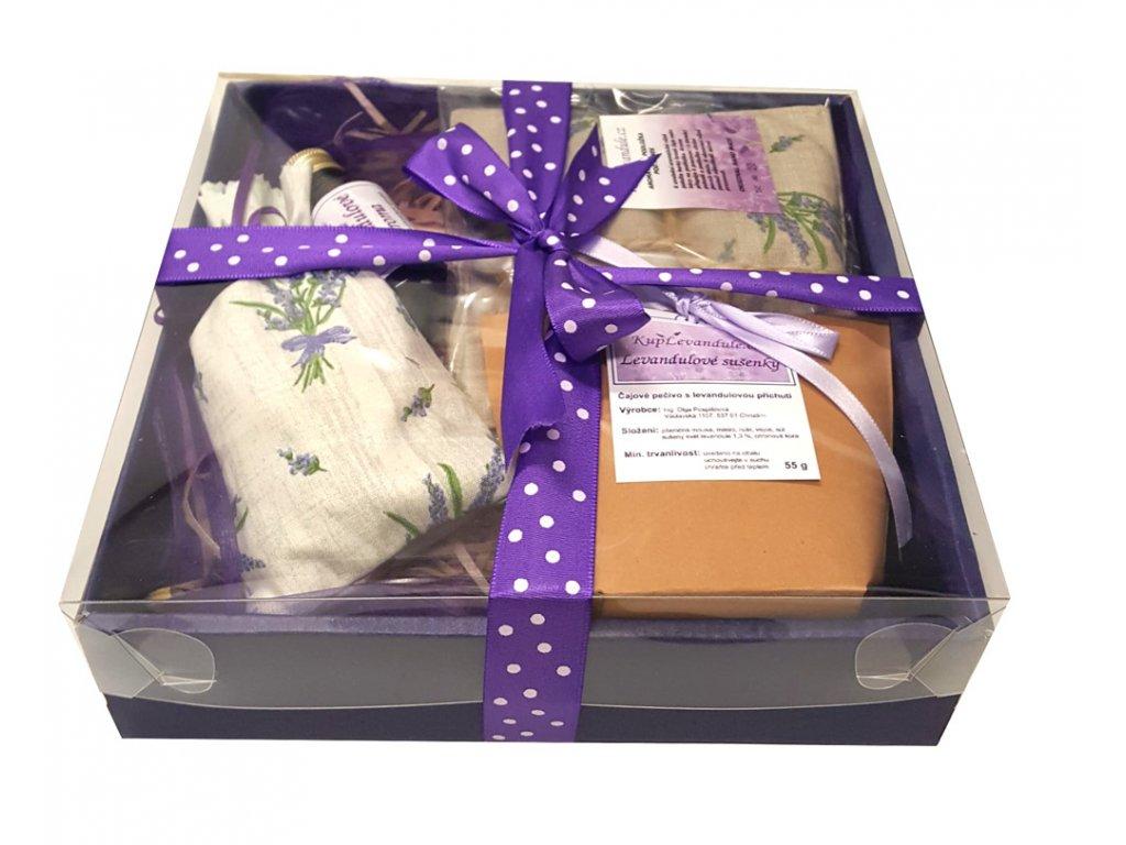 Dárková krabička s levandulovým sirupem