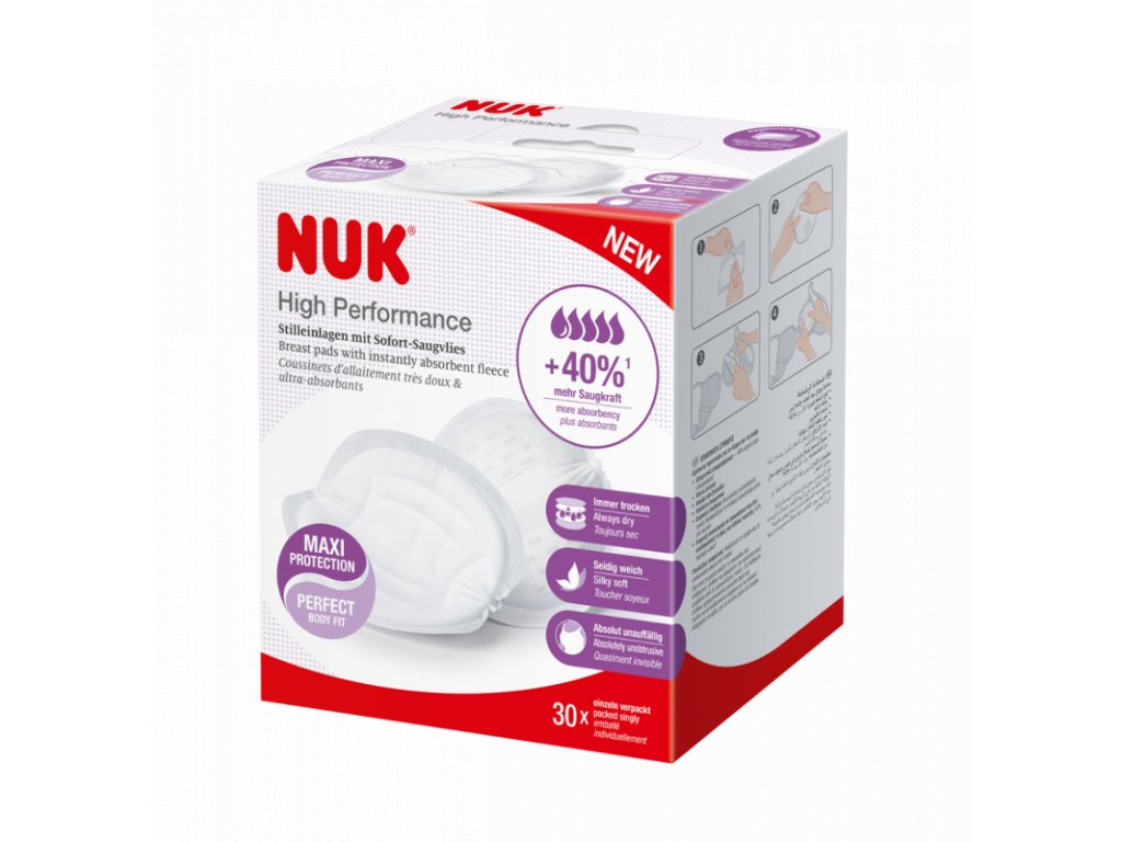 NUK Prsní polštářky High Performance 30 ks