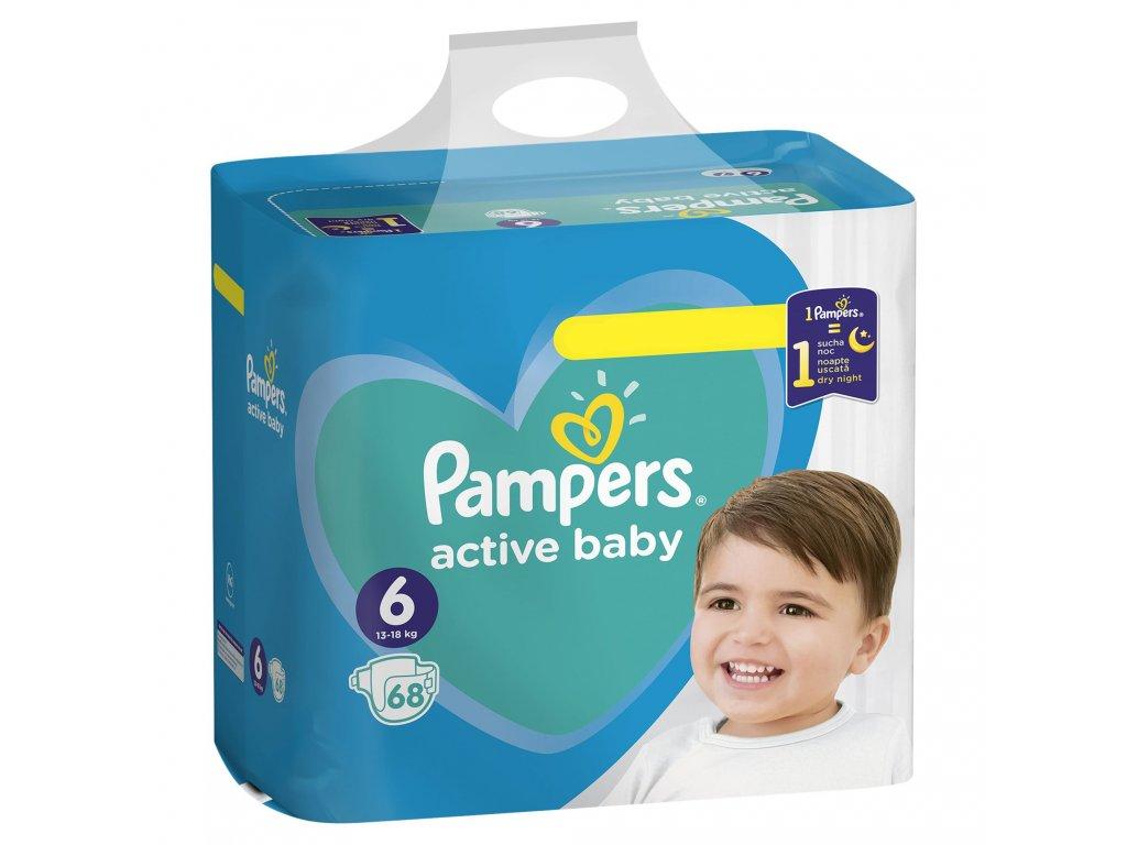 Pampers active baby 6, 13 18kg, 68ks