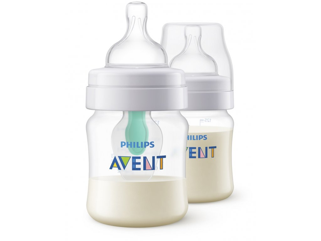 Avent Láhev Anticolic s ventilem AirFree 125ml 2 ks