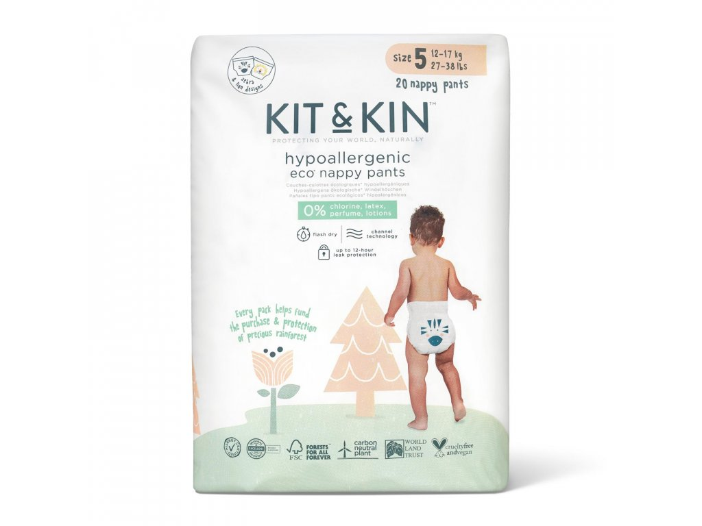 Kit & Kin Ekologické plenkové kalhotky pull ups 5