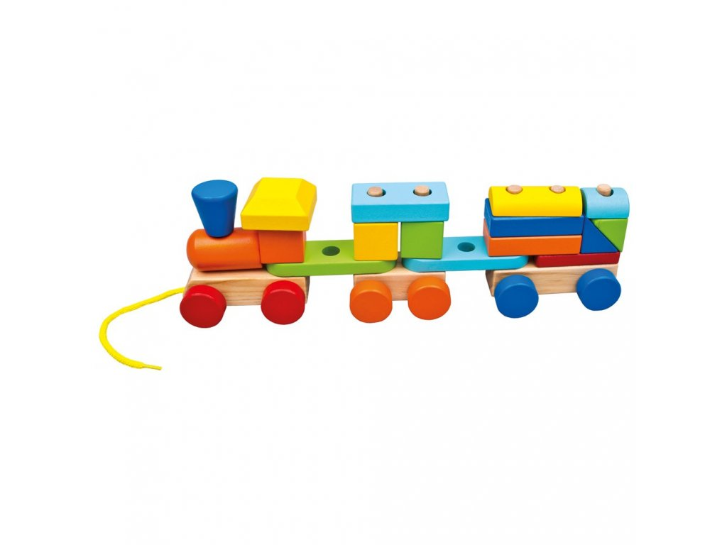 Barevný vláček s 2 vagóny