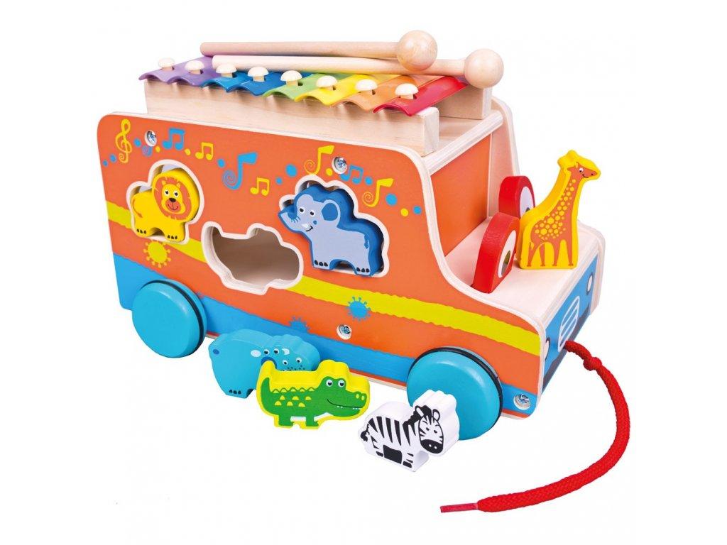 Auto vkládačka s xylofónem