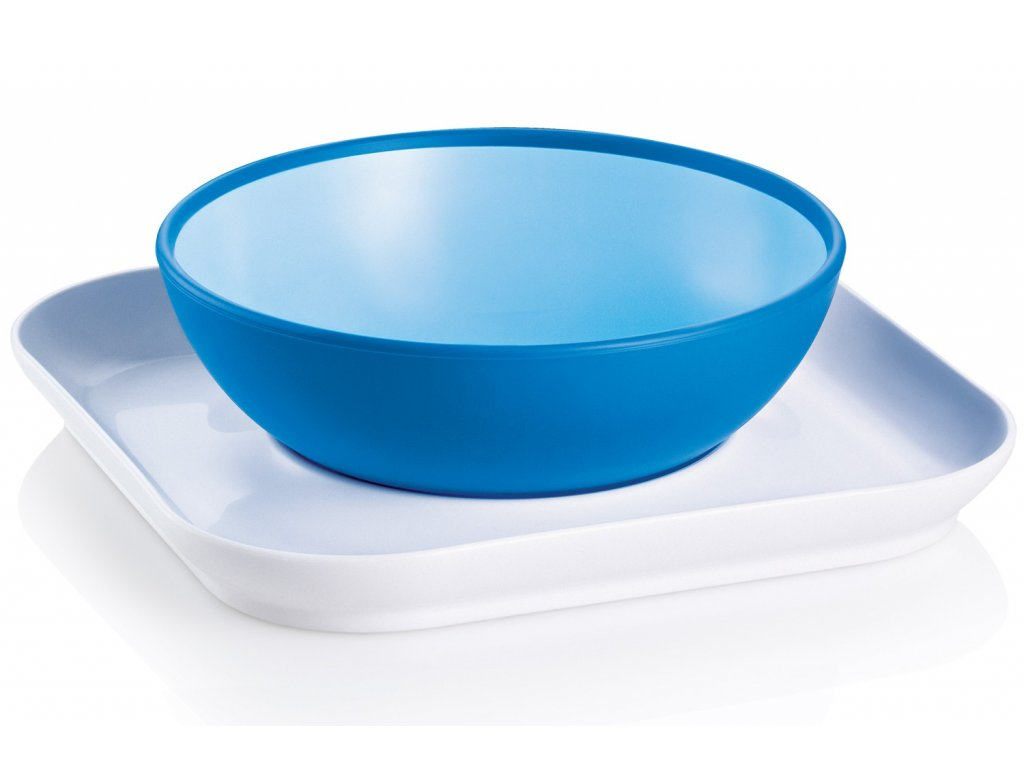 mam babys bowl and plate blue 2